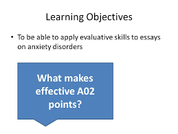 learning objectives to be able to apply evaluative skills to 1 learning objectives