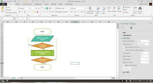 excel flow chart creating a flowchart in excel pryor learning solutions
