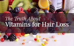 vitamins for hair loss hair growth