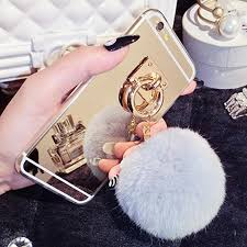 Ayeena Luxury Fashion Rabbit fur pompom <b>Fluffy</b> ball Chain ...