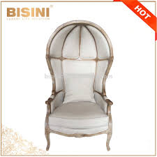 French Provincial Canopy Birdcage Chair/ Antique Limed Gray Oak Wooden  Linen Upholstered Birdcage Chair,Shell Leisure Chair - Buy Living Room  Wooden ...