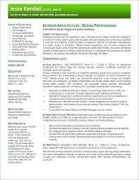 Interior Design Resume Examples Resume For Interior Design Interior
