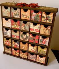 Blank Boxes To Decorate DIY Advent calendar Wood shelf blank boxes to decorate 100x100x100 19