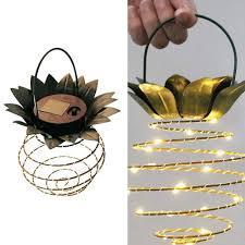 Prachtige Ananas Led Lamp Op Zonne Energie Dealsinaboxbe