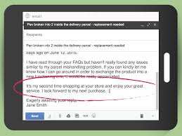 how to write an email to customer service sample emails