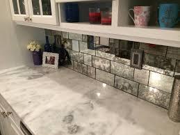 Mirror Backsplash In Kitchen Antique Mirror Tiles The Glass Shoppe Kitchen Pinterest
