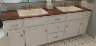 The tower rustic double sink bathroom vanity reclaimed wood. How To Make A Wooden Countertop For Your Bathroom Splendry