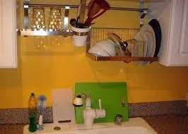 Kitchen Sink Drain Rack Kitchen Cool Diy Drying Rack In Kitchen Solid White Oak Dish