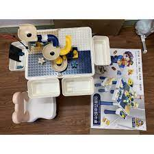 Bộ Bàn Đồ Chơi Lego 3 Chức Năng Cho Bé Sáng Tạo ( Đã Bao Gồm 130+ Chỉ Tiết  LEGO) chính hãng 110,000đ
