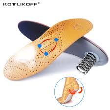 kotlikoff leather orthotic insoles active carbon orthopedic inserts flatfoot arch support shoe pads for men women whole uk 2019 from ajshoesfactory