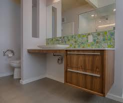 backsplash bathroom ideas. Bathroom Backsplash Ideas Midcentury With ADA Vanity Aluminum Aluminum. Image By: Avenuetwodesign I