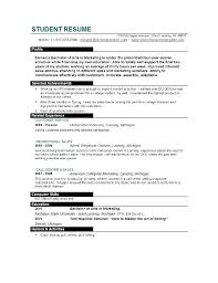 Good Resume Templates For College Students Resume Sample For College