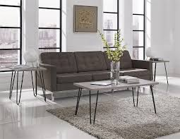 Living Room Coffee Table Sets Amazoncom Altra Owen Retro End Table Sonoma Oak Gunmetal Gray