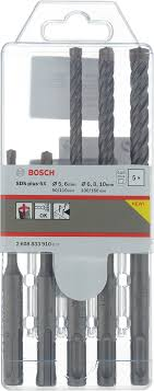 "Набор буров <b>Bosch</b> ""<b>SDS plus</b>-<b>5X</b>"", 5 шт, диаметр 5-10 мм - купить ..."