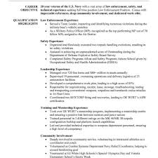 Police Officer Resume Example Resumes Objective Examples Law
