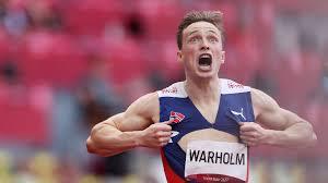 Norway's karsten warholm shatters 400m hurdles world record to win gold. Jsl4k X7h Wmpm