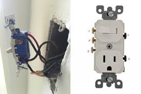 replace a wall light switch a switch outlet combo