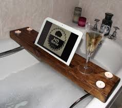 sophisticated bathtub tray with book holder pretty bathtub wine holder