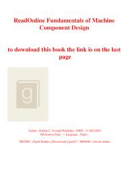 Juvinall Machine Design Pdf Readonline Fundamentals Of Machine Component Design