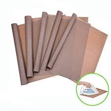teflon sheet 5 pack ptfe teflon sheet for heat press by shovan transfer sheet non