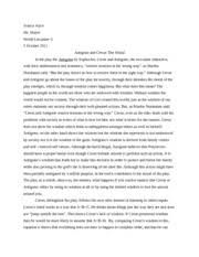 world literature an unexpected day essay an unexpected day we  4 pages antigone and creon