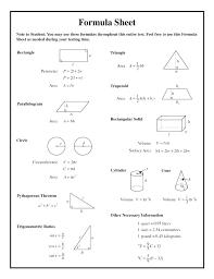 Math Formula Chart For Geometry Math Formula Sheet Hsc Csdmultimediaservice Com