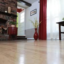 shot of refinished hardwood floors with furniture and decor in room