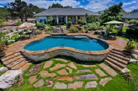 Delighful Backyard Pool Designs Landscaping Pools Inground S Ideas With Picture Of Intended Inspiration