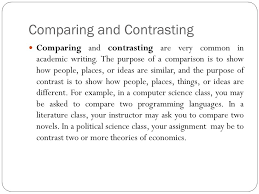 comparison contrast essay ppt  comparing and contrasting