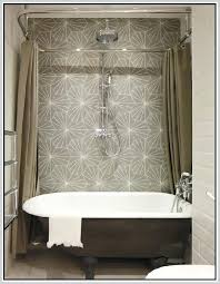 tub shower enclosure clawfoot and curtain rod clawfoot tub and shower