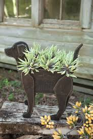 Gardening Decorative Accessories Recycled Wooden Black Lab Planter House Pinterest Black labs 21