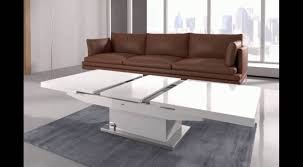 Elgin Coffee Table That Also Converts To A Dining Table In W U2013 Youtube For  Dining