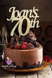 70th Birthday Cake Topper