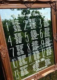 Mirror Table Seating Chart Mirror Seating Chart Custom Hand Painted With Assort Frames