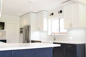 My Beautiful New Kitchen With Contrasting Midnight Blue And Dove