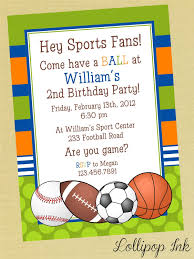 sports birthday party invitation wording sports printable birthday invitation personalized sports