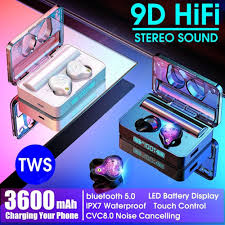 XS Plus TWS <b>Bluetooth</b> 5.0 <b>Earphones</b> Wireless <b>Earphone</b> Charging ...