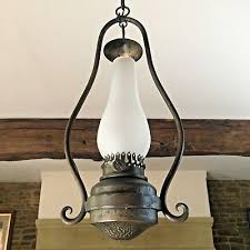vintage chandelier wrought iron hand forged pendant light lamp gothic