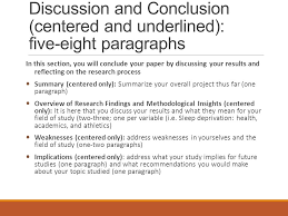 final presentation on the research project title abstract  4 discussion