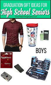 graduation gift ideas for high senior boys