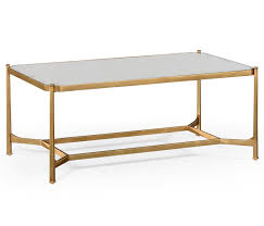 gilded rectangular coffee table antiqued mirror