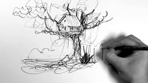 how to draw a treehouse step by step. Beautiful Draw Treehouse Drawing Video  Gabriel Evans In How To Draw A Step By