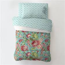 Coral and Teal Floral 4-Piece Toddler Bedding Set   Carousel Designs &  Adamdwight.com