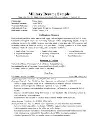 Examples Of Military Resumes Gorgeous Military To Civilian Conversion Sample Resume For Logistics After