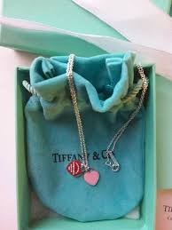 tiffany co return to tiffany double heart tag sterling silver necklace pendant in pink rpp 120