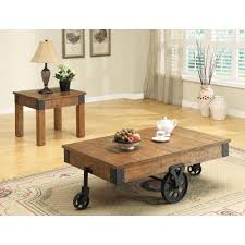 Country Coffee Tables And End Tables Accent Tables Distressed Country Wagon Coffee Table