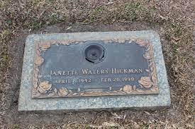 Janette Waters Hickman (1942-1990) - Find A Grave Memorial