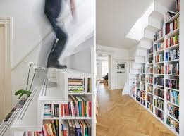 Stairs Bookcase design inspiration: bookcase stairs   apartment therapy