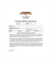 Special Warranty Certificate Templates Free 123certificate