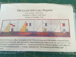 Sew Fun 2 Quilt: Row by Row H2O & We also stopped by Elaine's - one of my favorite quilt shops - in Salt Lake  City and picked up The Great Salt Lake Regatta pattern, as well as their  cute ... Adamdwight.com